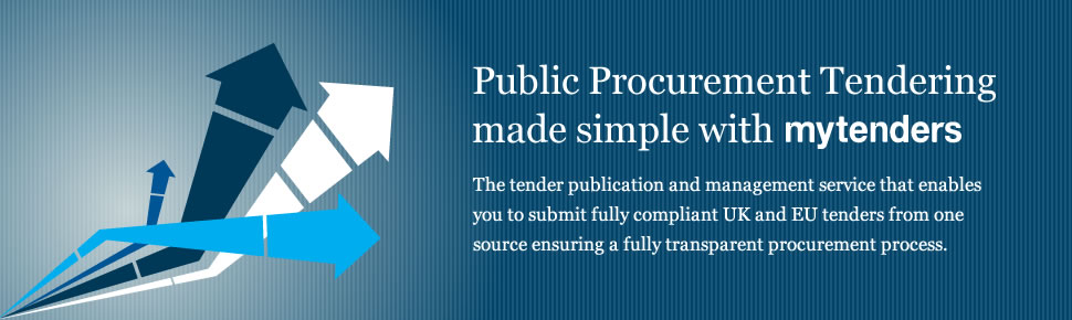 Public Procurement Tendering made simple with mytenders - The tender publication and mangement service that enables you to submit fully compliant UK and EU tenders from one source ensuring a fully transparent procurement process.